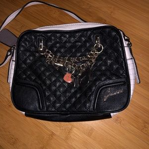Black and white Leather Guess Purse
